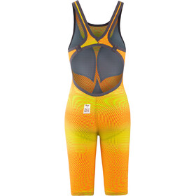 arena Powerskin Carbon Air2 Full Body Short Leg Oper Back Badeanzug Damen lime/orange